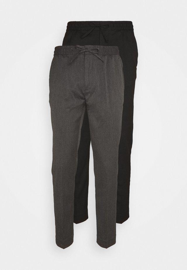 2 PACK - Broek - black/grey
