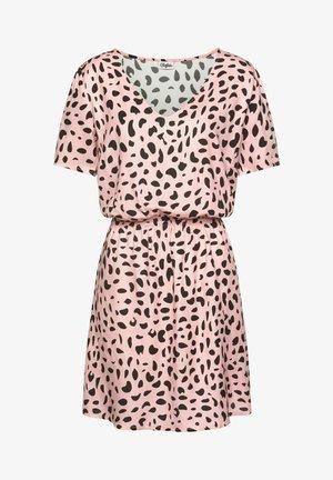 Day dress - rose/schwarz/bedruckt