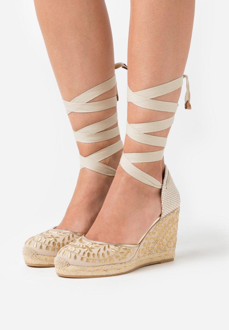 ALDO - MUSCHINO - High heeled sandals - gold