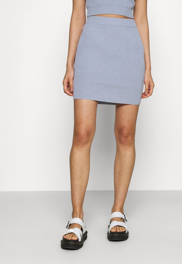 MIMI MINI SKIRT - Miniskjørt - silver blue