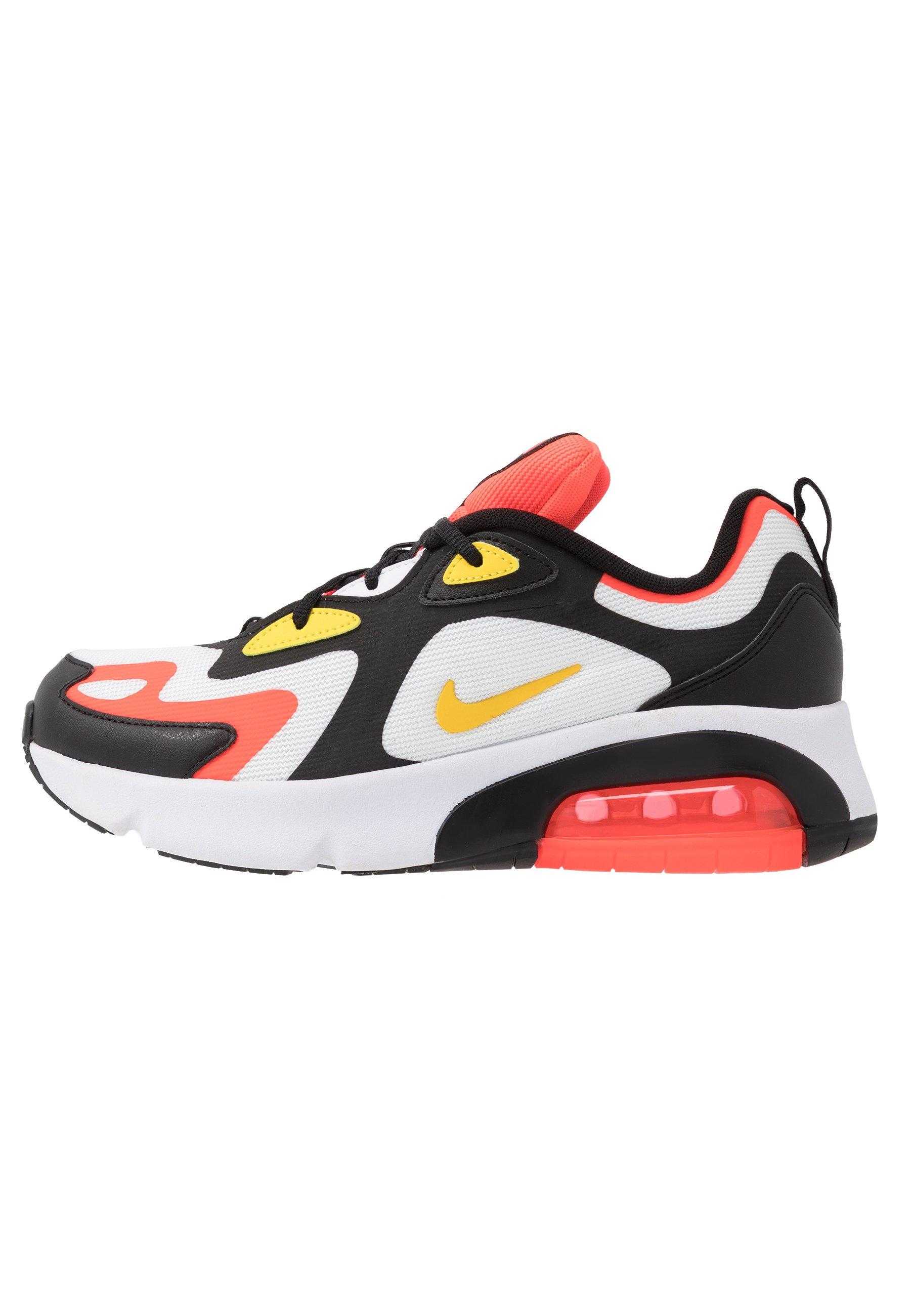 AIR MAX - Baskets basses - black/chrome yellow/white/bright crimson