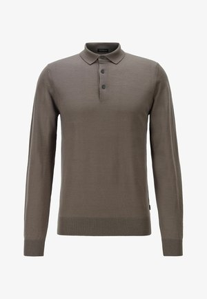 Polo shirt - open grey