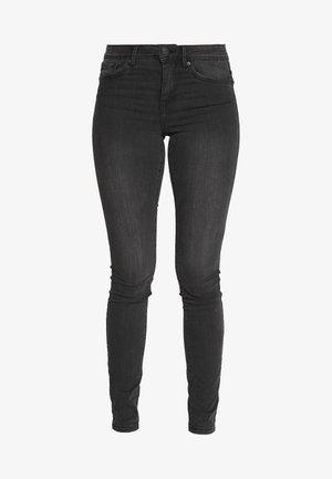 VMTANYA PIPING - Skinny džíny - dark grey denim