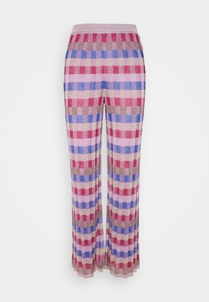 PANTALONE - Pantalon classique - pink/multi-coloured