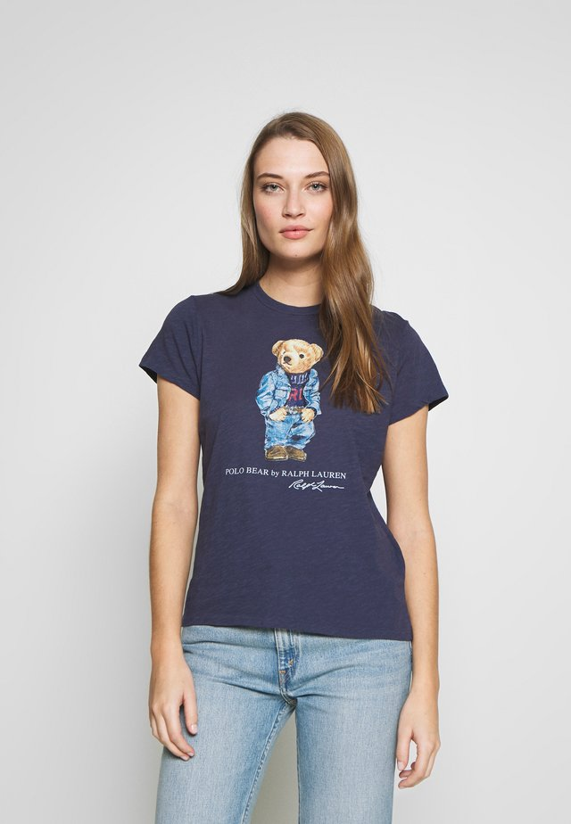 BEAR SHORT SLEEVE - T-shirt z nadrukiem - classic royal
