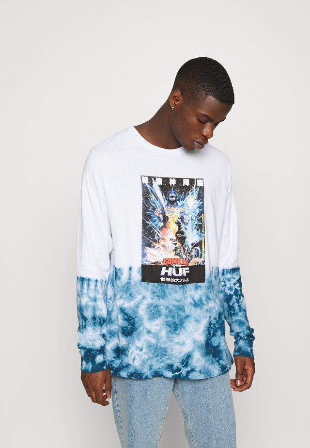 SPACE GODZILLA TIEDYE TEE - Long sleeved top - white