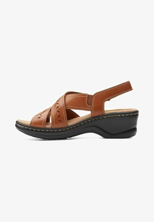 LEXI PEARL - Sandalias - dark tan leather