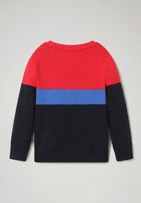 Napapijri - BALOY COLOUR BLOCK - Sweatshirt - blu marine - 1