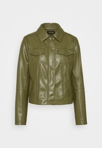 comma - Faux leather jacket - deep green - 5