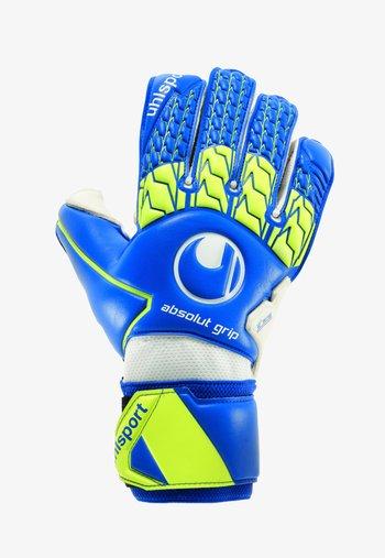 Goalkeeping gloves - marine/fluo gelb/weiß
