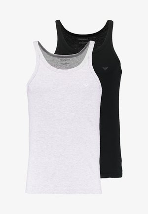 2 PACK - Undershirt - black/heather gray