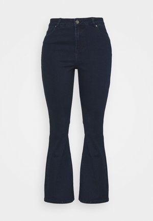 KIM HIGH WAIST SUPER SOFT - Bootcut jeans - dark indigo