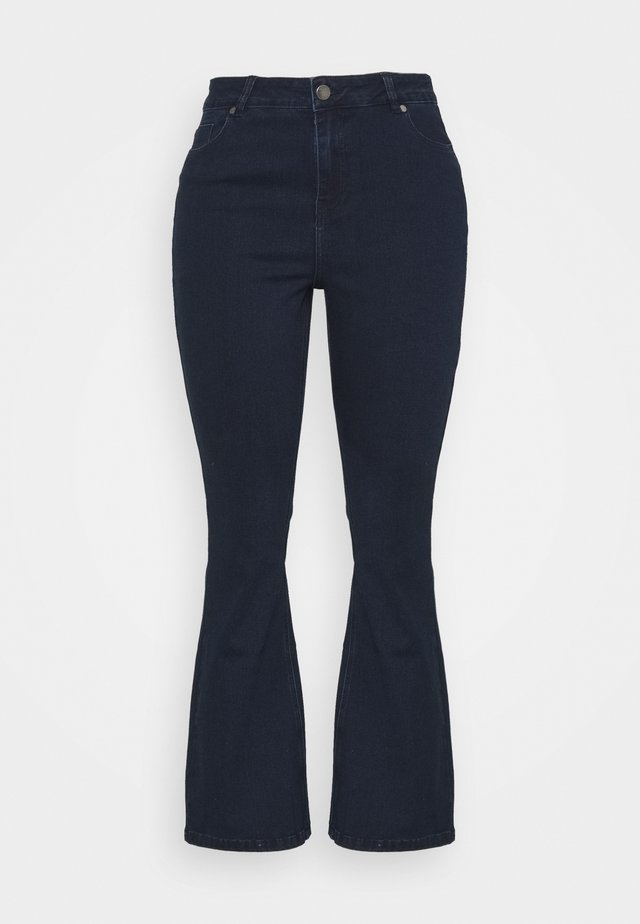 KIM HIGH WAIST SUPER SOFT - Jeans bootcut - dark indigo