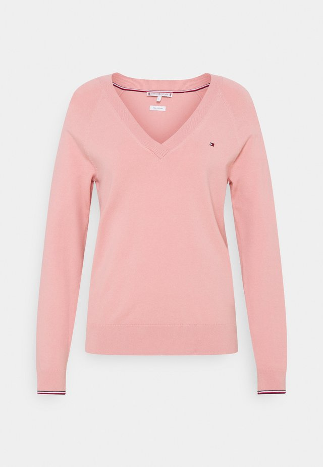 VNECK - Pullover - soothing pink