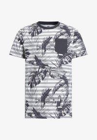 WE Fashion - MET STREEP- EN BLADERENDESSIN - Print T-shirt - grey - 3