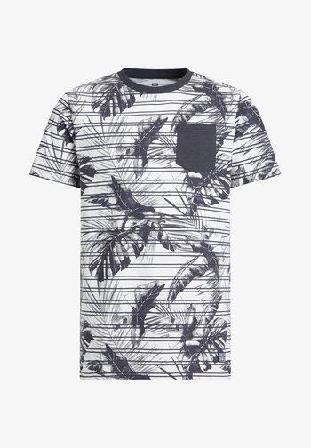 MET STREEP- EN BLADERENDESSIN - T-shirt med print - grey