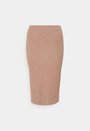 ONLNELLA  SLIT SKIRT - Pencil skirt - burlwood