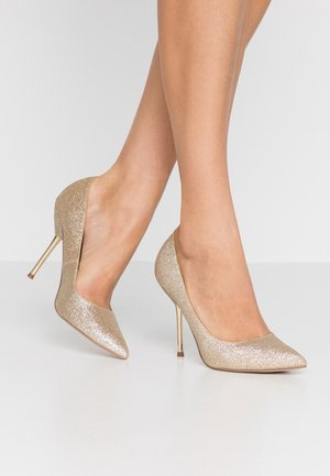 BERTIE METAL GLITTER - High heels - gold