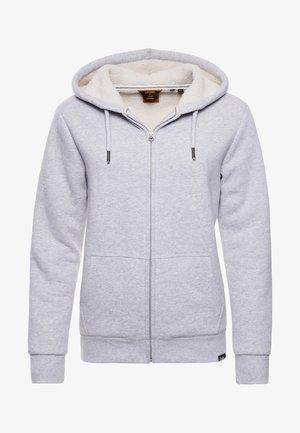 BORG LINED - Zip-up sweatshirt - glacier grey marl
