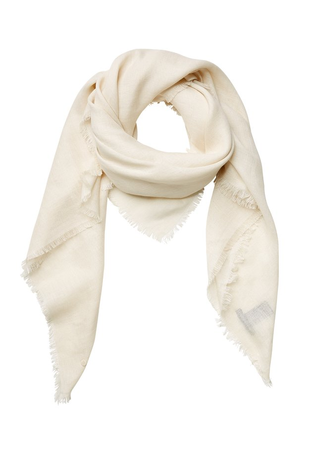 SHAWL WOVEN SMOOTH SOLID  - Foulard - raw sand