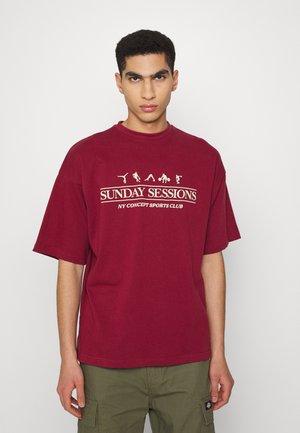 SESSIONS UNISEX - T-shirt print - burgundy