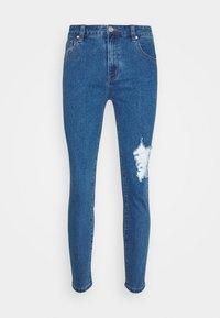 RIPPED  - Skinny džíny - mid blue