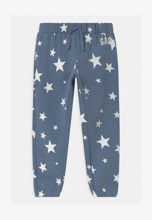 GIRL LOGO - Tracksuit bottoms - blue heather