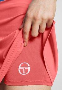 sergio tacchini - TANGRAM SKORT - Spódnica sportowa - coral pink/white - 4