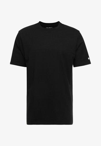 BASE  - Basic T-shirt - black/white