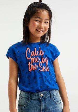 Print T-shirt - cobalt blue