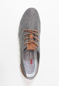 Bugatti - ALFA - Trainers - dark grey/cognac - 1