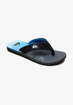 MOLOKAI LAYBACK - T-bar sandals - black/grey/blue