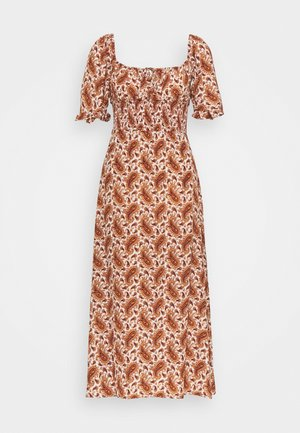 EL PASO MIDI DRESS - Day dress - sable/burgundy