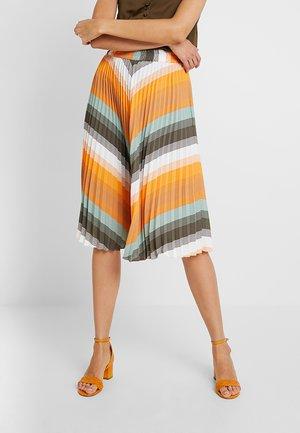 PLISS BELLA SKIRT - Pleated skirt - sun orange