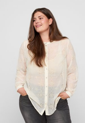Button-down blouse - beige as sample