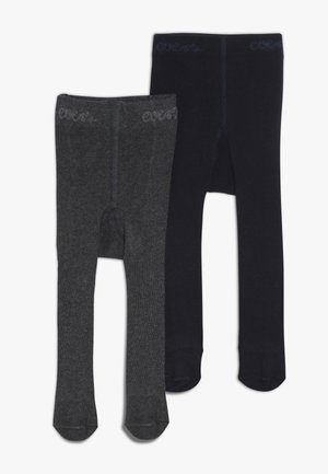 2 PACK UNISEX - Tights - anthrazit/marine