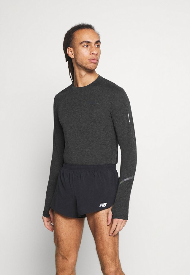 TEE  - T-shirt à manches longues - black melange/monument