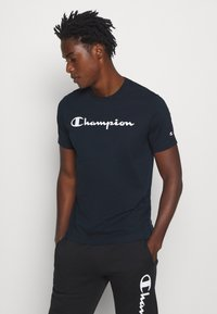 Champion - LEGACY CREWNECK - T-shirts print - dark blue - 0