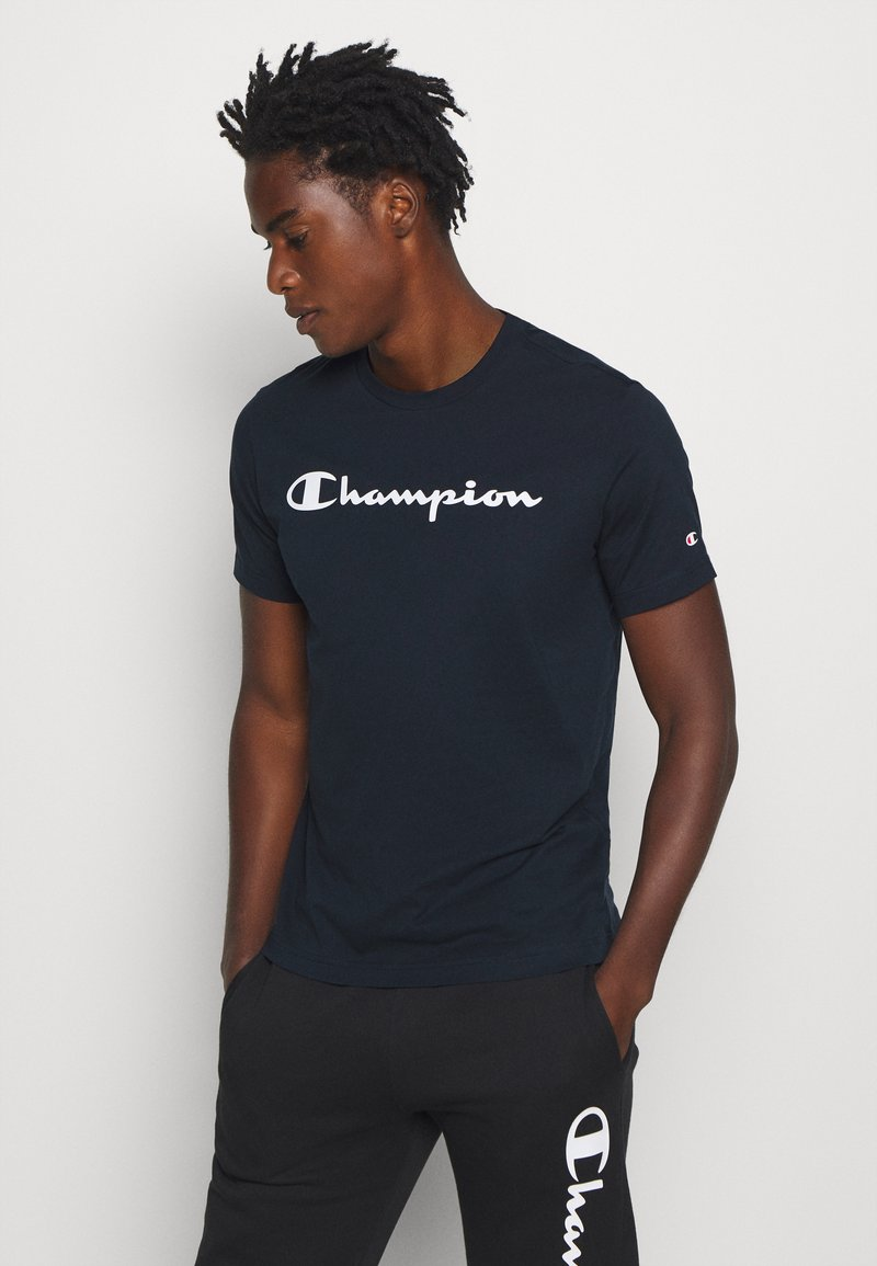 Champion - LEGACY CREWNECK - T-shirts print - dark blue