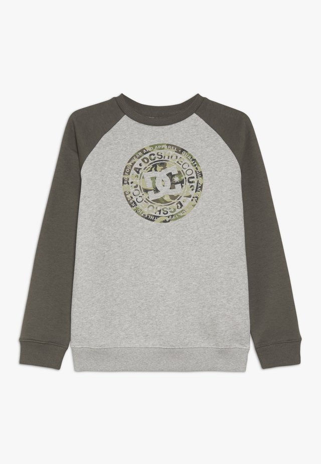 CIRCLE STAR CREW RAGLAN BOY - Sweatshirt - grey heather/dark olive