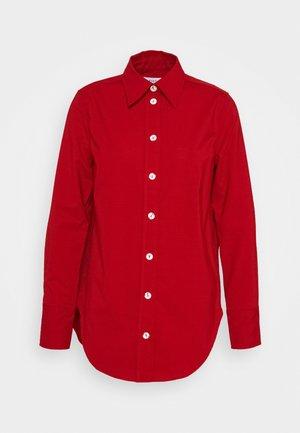 BOLD - Button-down blouse - fire red