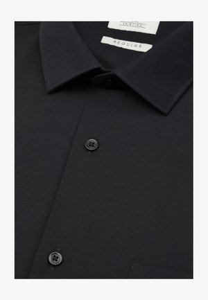 NAVY REGULAR FIT SHORT SLEEVE EASY CARE SHIRT - Camicia elegante - black