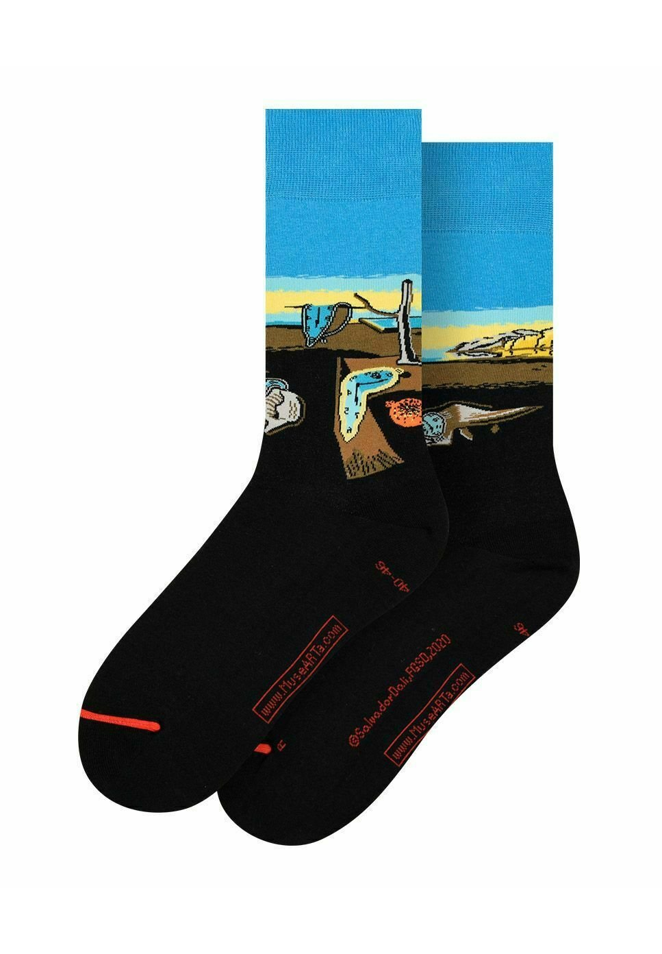 Femme SALVADOR DALÍ : THE PERSISTENCE OF MEMORY - Chaussettes