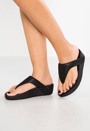 LOTTIE GLITZY - Sandály s odděleným palcem - black