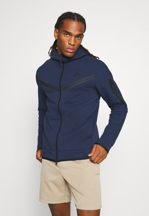 HOODIE  - Huvtröja med dragkedja - midnight navy/black