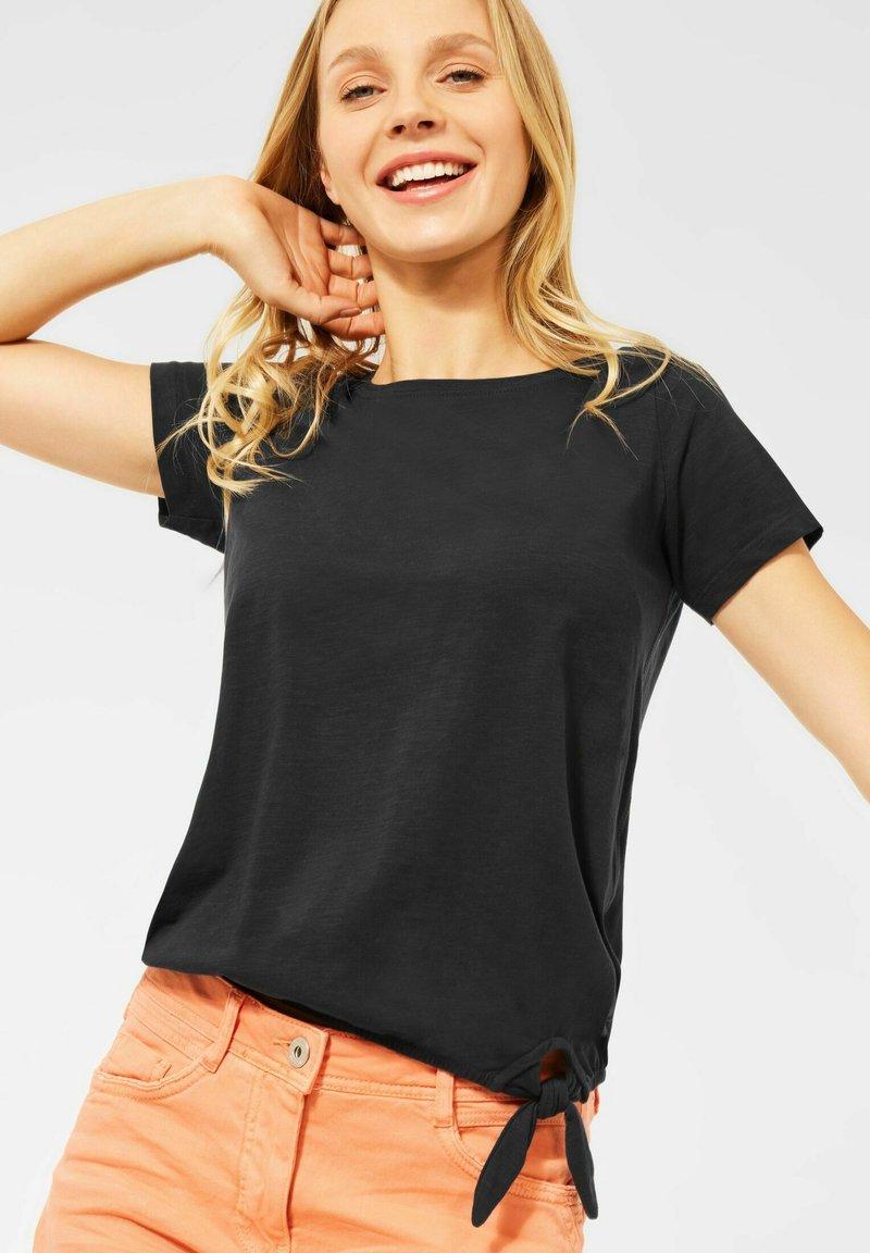 Cecil - Basic T-shirt - grau