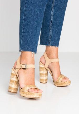 HUGLAG - High heeled sandals - natural