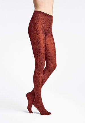 AMAZONIAN POISON  - Tights - red rust/black