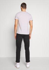 TOM TAILOR DENIM - FOTOPRINT ON STRIPED TEE - Print T-shirt - grey - 2
