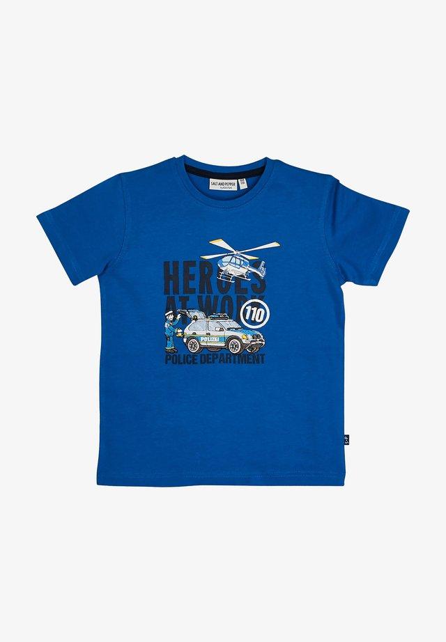 Print T-shirt - strong blue